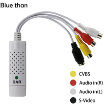 UVC 2.0 Easycap Audio Video USB Cards Capture Adapter VHS to DVD For Win7 / 8 / XP / Vista Phone Converter RCA Easiercap
