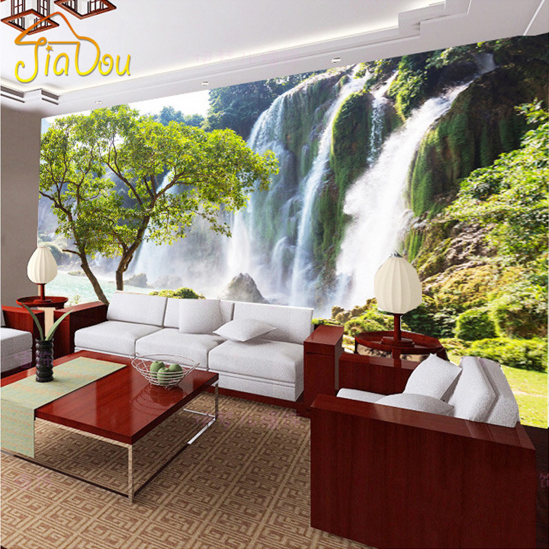 Custom Photo Wallpaper 3D Stereoscopic Landscape Scenery Wall paper LivingRoom Sofa Background Wall Mural Wallpaper For Walls 3D<br><br>Aliexpress
