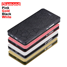 Newest case for ZTE V8 Blade case cover 5.2 inch diamond line Cover for ZTE Blade V8 Case Cover PU flip ZTE Blade V 8 Case Cover(China)