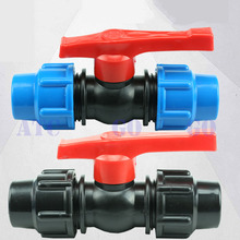 Watering & Irrigation EquipmenPE quick access ball valve suitable for OD 25mm pipe PE water supply pipe fittings quick connector(China)