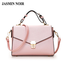 2017 Summer New Arrival Women Pink Color Cross Body Bag Elegant Lady Dual Functions Flap Messenger Bag Female PU Totes Handbag(China)