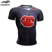 TUNSECHY brand  Latest design naruto characters xiao organization Payne tight clothing design movement short sleeve T-shirt