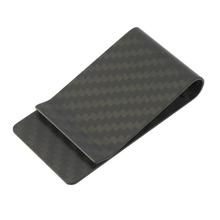 Car Styling Hot Sale High Quality Matte Real Carbon Fiber Money Clip Business Card Credit Card Cash Wallet Auto paper clips
