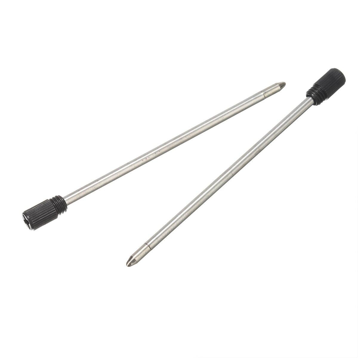10Pcs 70mm Black Metal Element Crystal Ink Ballpoint Replace Refill Pen Tool