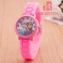 Snow Queen Princess elsa anna Cartoon Watch Children Girls Quartz Analog relogio feminino Wristwatches Toys Gifts Promotion