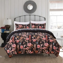 Floral Printed Bedding Set Tencel Cotton Duvet Quilt Cover Set Single Double Europe Family Twin Queen King Size Bed Set Bed Line