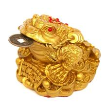 Feng Shui Money LUCKY Fortune Wealth Chinese Frog Toad Coin Home Office Decoration Tabletop Ornaments Good Lucky Gifts Office 2(China)