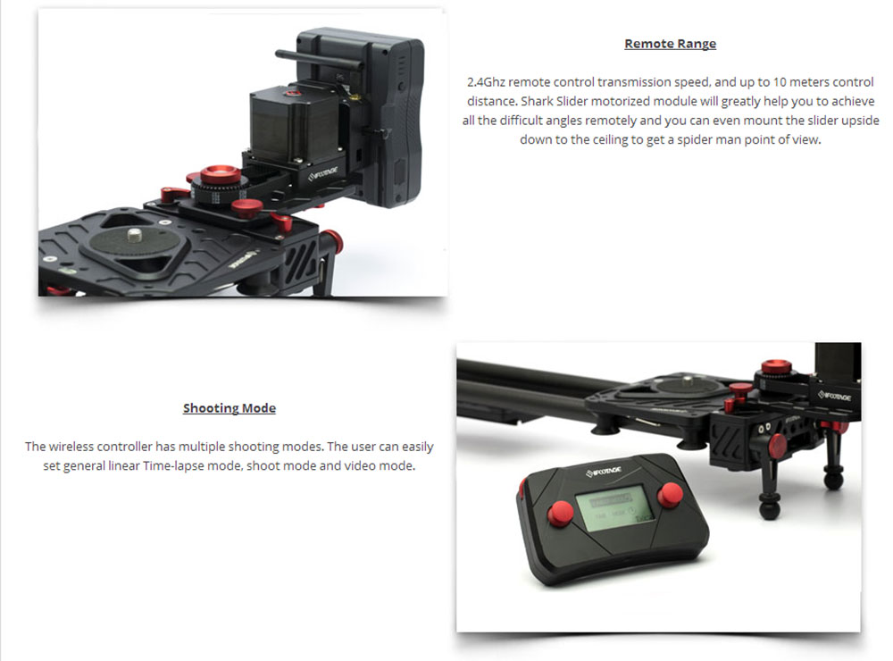 iFootage wireless motorized controller timelapse Single Axis System S1A1 for Shark Slider S1 camera video dolly track slider 002