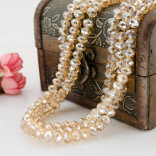 Flat round glass crystal beads high quality 6mm 8mm ball beads jewelry accessories DIY(China)