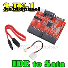 "kebidumei 2 in 1 SATA to IDE Adapter IDE to SATA Converter 40 pin 2.5"" inch Hard Disk Driver Support for ATA HDD CD DVD Adaptor"