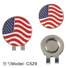 Golf hat Clip New Flag of the States United Golf Ball Marker Golf Cap Clip Alloy golf Fans supplies 5PCS/Pack free shipping(China)
