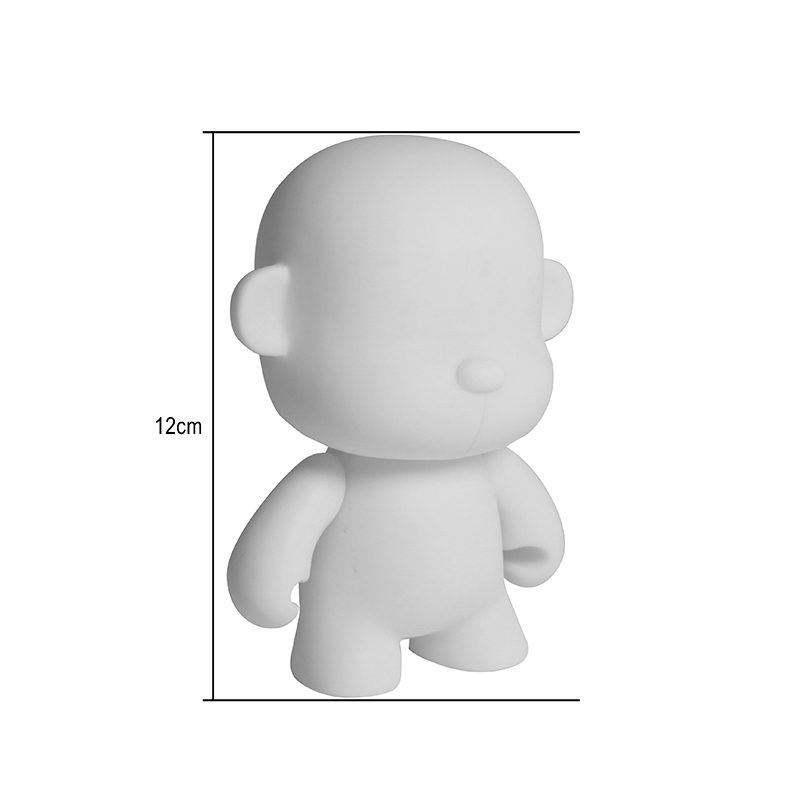 Kidrobot Blank White Model DIY Toys Unpainted Vinyl Doll ction Figurine  Aqua Doodle Gift Watercolor Drawing For Kids<br>