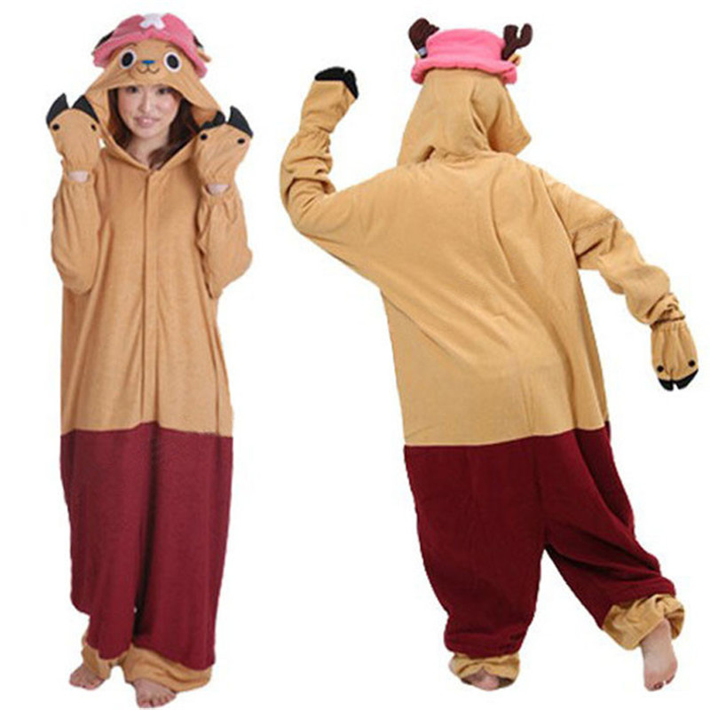 Halloween Funny Adult Pajamas Chopper Anime Cosplay Clothes Animal Unisex Onesie Animal Halloween Hoodie Costume For Women