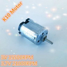 1pc J011 K10 Mini DC Motor Low Speed for Technology Teaching Making Battery-operated fan Free Shipping Russia
