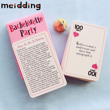 MEIDDING Game Card Bachelorette Party Truth Dare Activity Card Bride Groom Party Wedding Party Girl Night Hen Party Decor Favor