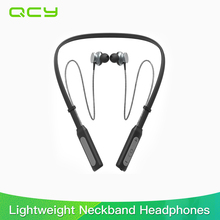 2017 QCY BH1 Bluetooth Headphones Wireless Lightweight Neckband Headset IPX5 Waterproof Sports Earphone with Mic for IOS Android(China)