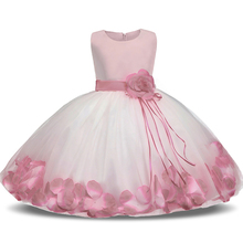 2017 New Dress Flower Baby Girl Lace Dresses Birthday Party Wedding Ceremonious Toddler Girls Clothes Girl Tutu Dress For Kids