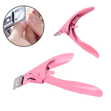 Pro Nail Edge Cutter Stainless Steel Nail Clipper Acrylic Gel Clipper U-type Shear Nail French Scissors Eliminate Dead Skin Care(China)