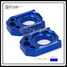 Blue CNC Rear Chain Adjuster MX Axle Blocks YZ250F YZ450F Motorcycle Motocross Supermoto Enduro Dirt Bike Road - 4STAR Store store