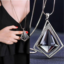 Buy RAVIMOUR Fashion Choker Women Necklace Jewelry Geometric Crystal Statement Pendant Necklace Silver Color Long Chain Colar 2018 for $2.67 in AliExpress store