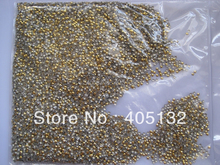 1 Bag OD-38-Gold Free Shipping 3D Small 3MM Gold Star Metal Stud Shiny Nail Decoration Lovely Outlooking