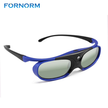 FORNORM Battery Universal DLP Active Shutter 3D Glasses 96-144Hz For XGIMI Optoma Acer Viewsonic Home Theater Projector 3D TV(China)