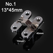 1PCS Hidden Hinges Size 13x45mm Bearing 6KG Invisible Concealed Cross Door Hinge Stainless Steel Hinge For Folding Door KF1058