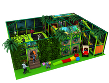exported to Croatia Nursery Kids Indoor Playground Equipment CE Certificated Kids FOREST Play Center with foam pit YLW-IN171012