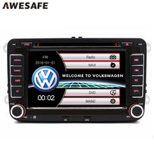 AWESAFE 2 Din 7 Inch Car DVD Player For VW/Volkswagen/Passat/Touran/Polo/Golf/Tiguan/Sharan Car Radio with Navigator GPS Card(China)