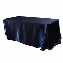 90 x 132 inch Rectangular Satin Tablecloth White/Black Tablecloths  Table Cover for Wedding Party Restaurant Banquet Decorations