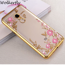 Case for Xiaomi Redmi 4X 4A 4 Flower Bling Diamond Soft TPU Silicone Back cover for Xiaomi Redmi Note 4 4X Pro Global Version