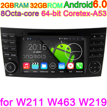 Android 6.0 Octa Core Pixels 1024*600 Car Head Unit DVD For Mercedes Benz E G Class W209 W211 W219 W463 GPS Radio Computer 4G(China)