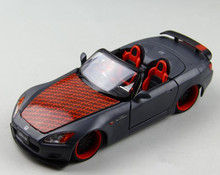 High simulation super convertible, 1: 24 scale alloy matte Honda S2000 sports car, metal casting toy vehicle, free shipping