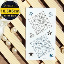 Waterproof Temporary Tattoo fresh neck lace tattoo star Interstellar girl Water Transfer fake tattoo flash tattoo tatuajes(China)
