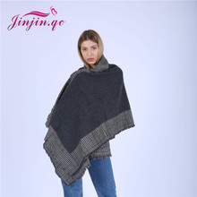 Jinjin.QC women scarf plaid scarves and shawls cashmere pashmina acrylic capes echarpe foulard femme hijab bandana drop shipping(China)