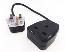 UK extension cord , IEC UK 3Pin Male Plug to UK 3Pin Female Socket Power Adapter Cable ,13A