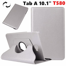 "Tab A6 10.1 360 Degree rotating Folio PU Leather Case Flip Cover For Samsung Galaxy Tab A 10.1 T580 T585 10.1"" Tablet Case"