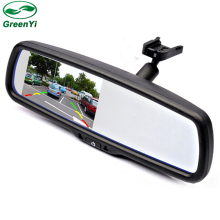 "4.3"" TFT LCD Car Windscreen Rear View Mirror Car Bracket Monitor with 2CH Video Input For Parking Assistance System"