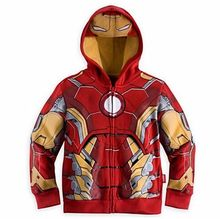 2017 new Iron Men Boys SuperHero Sweater Halloween Fancy Dress Kids Child Costume Cosplay