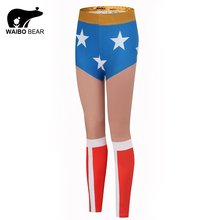 Buy Wonder woman Leggings Women Fitness Leggings Fashion Stretchy Slim Leggings Skinny Pants Sexy Push Workout Female Trouser for $6.57 in AliExpress store