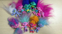 "LOVELY Trolls bobbi/poppy/Branch/DJ Collection Action Figures PVC Toys Doll toy 2.5"" 10PCS A SET"