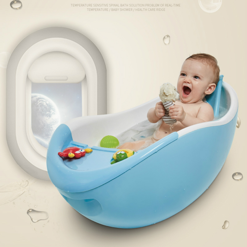 infant newborn to toddler bath shower baby bath tub temperature sensing bathtub children spinal bionic bathtub