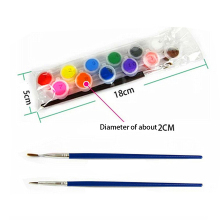 12 Colors With 2 Paint Blue Brushes Per Set Acrylic Paints For Oil Painting Nail Art Clothes Art Digital Random Color