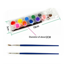 12 Colors With 2 Paint Blue Brushes Per Set Acrylic Paints For Oil Painting Nail Art Clothes Art Digital Random Color(China)