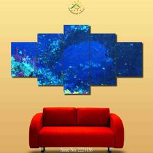 3-4-5 Pieces Impressive Underwater View Modern Wall Art Canvas Printed Painting HD Prints Modular Poster Wall Pictures(China)