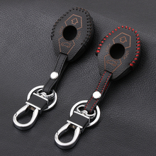3 Buttons Leather Car-Styling Key Cover Case keychain Fit For BMW X3 X5 Z3 Z4 3 5 7 SERIES E38 E39 E46 E83 1998-2005(China)