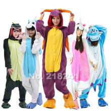 Shineye Panda Unicorn Stitch Giraffe Unisex Adults Flannel Pajamas Sets Cosplay Cartoon Animal Onesies Sleepwear For Women Men