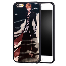 Bleach Anime Manga Art Zaraki Bleach Skull Skeleton Anime phone case cover for iphone 7 7plus 6 6splus 5 5s 5c SE(China)