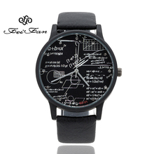 New Arrival Arithmetic Personality Watches 2017 FEIFAN Luxury Brand Fashion Casual Wristwatches Men Women Quartz Leather Watches(China)