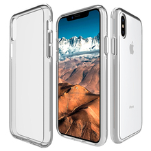 For iPhone X 10 8 7 6 6S Plus 5 5S SE Hybrid Clear Crystal Case Fusion Tough PC Back TPU Bumper Raised Bezels Protective Cover(China)